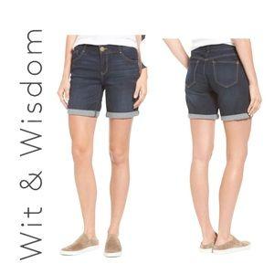 Wit & Wisdom Ab-solution Cuffed Denim Shorts